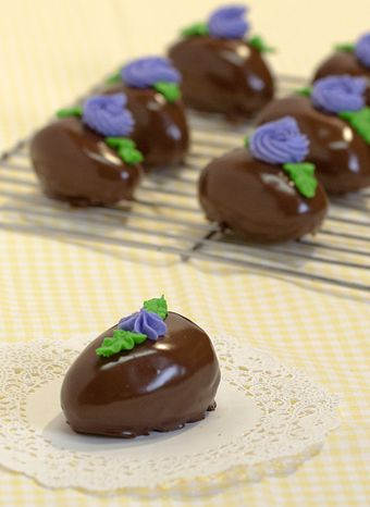 Chocolate Covered Peanut Butter Easter Eggs by Sweetly Wild. Milford ...