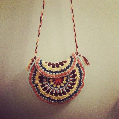 Crochet Mandala Cross Body Purse Hippie Bag Hippie Purse Boho Bag Boh ...