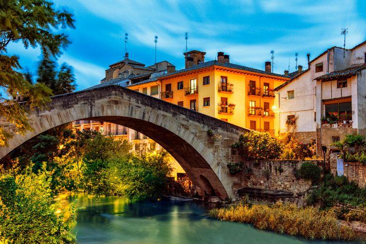 Puente medieval en Estella, Navarra