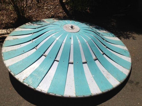 cool retro 50s aluminum patio umbrella