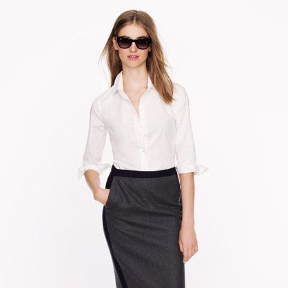 Three-quarter sleeve stretch perfect shirt