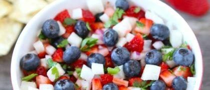 blueberry strawberry amp jicama salsa red white and blue salsa great ...