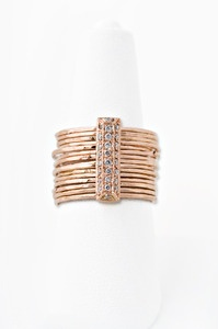 Jacquie Aiche -Pave Diamond Brick Ring