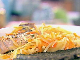 Sage Rubbed Pork Chops with Warm Apple Slaw - a really delicious and ...