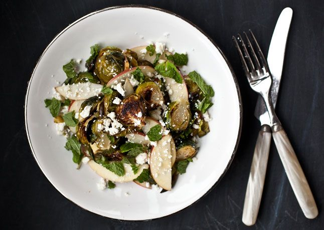 Roasted Brussels Sprouts and Apple Salad from Bon Appetit. http ...