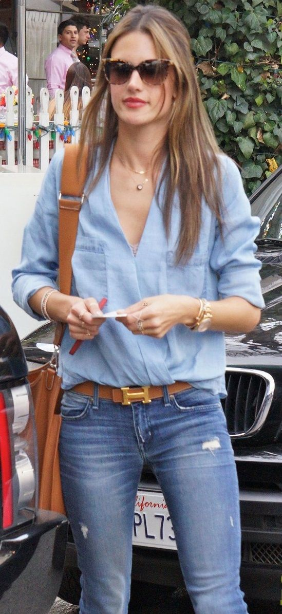 jeans with hand bag
