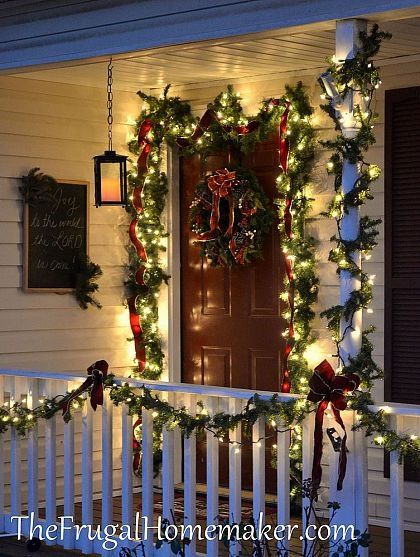 Country Christmas Decorations For Front Porch : Christmas front porch