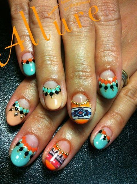 #nail #unhas #unha #nails #unhasdecoradas #nailart #colorido #colorful #mexican  unhas Bijou Nail Mexican design.