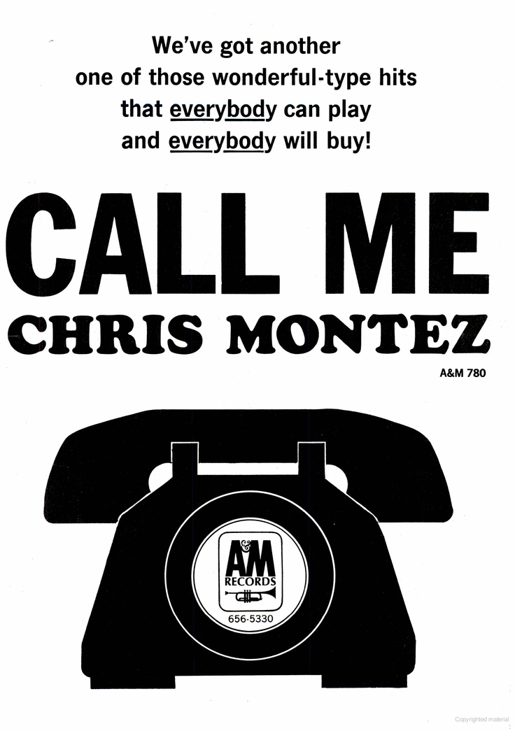 """Call Me"" - Chris Montez on A & M"