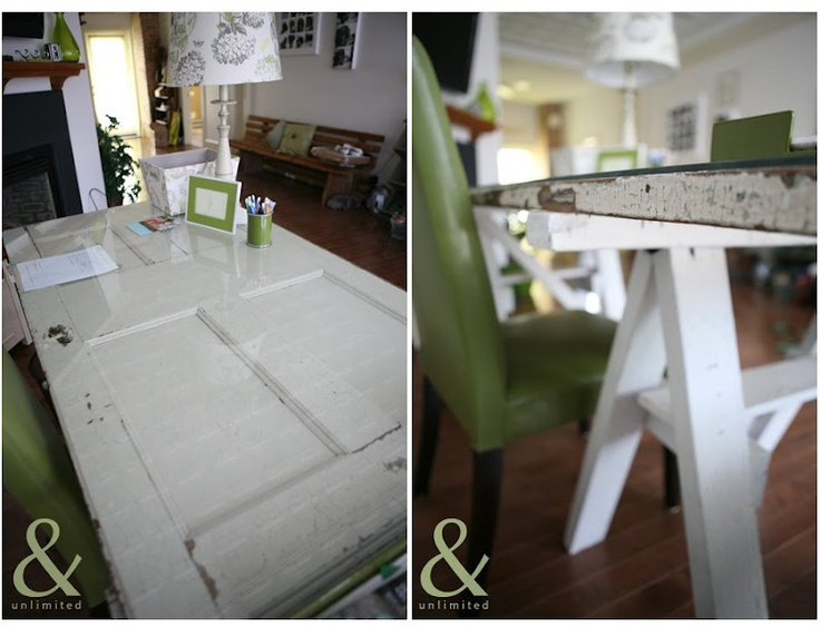 turn an old door into a desk diy helpful tips pinterest
