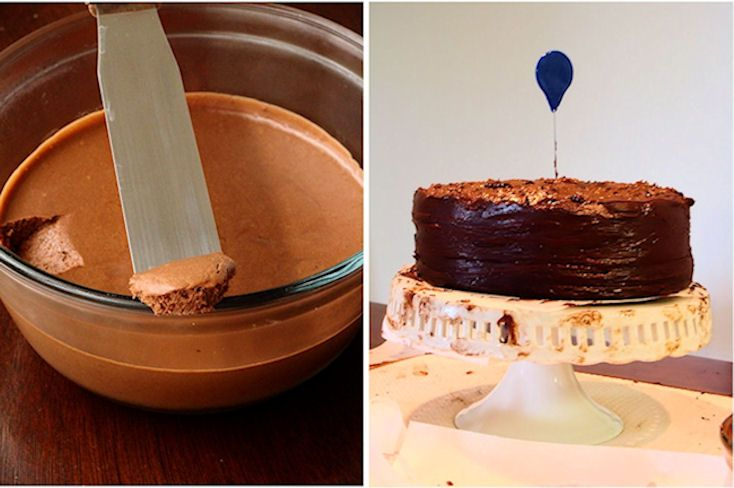 Chocolate cake with mousse filling Saffronstreaks ...