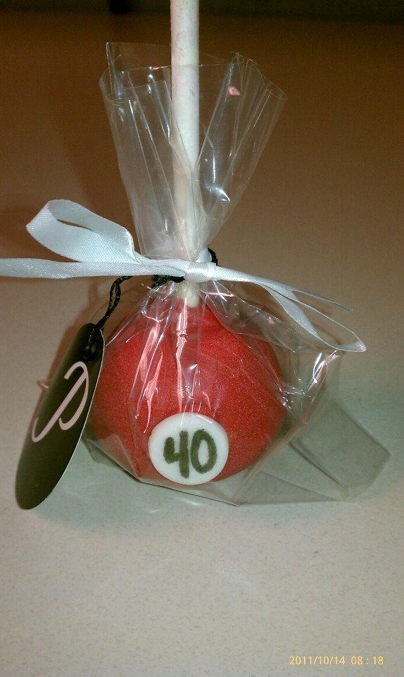 pool ball cake pops