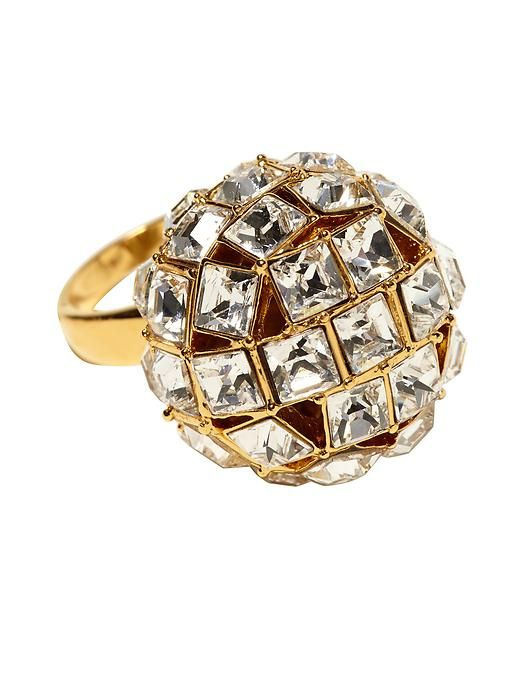 Disco ball ring from Kate Spade. Suddenly we want New Year's Eve plans!