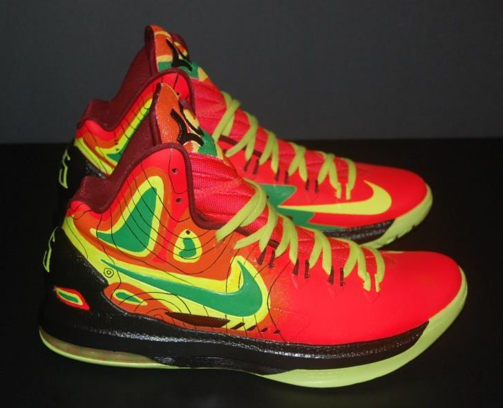 Kevin Durant Shoes 2013 Nike Kd V Weatherman On Fire