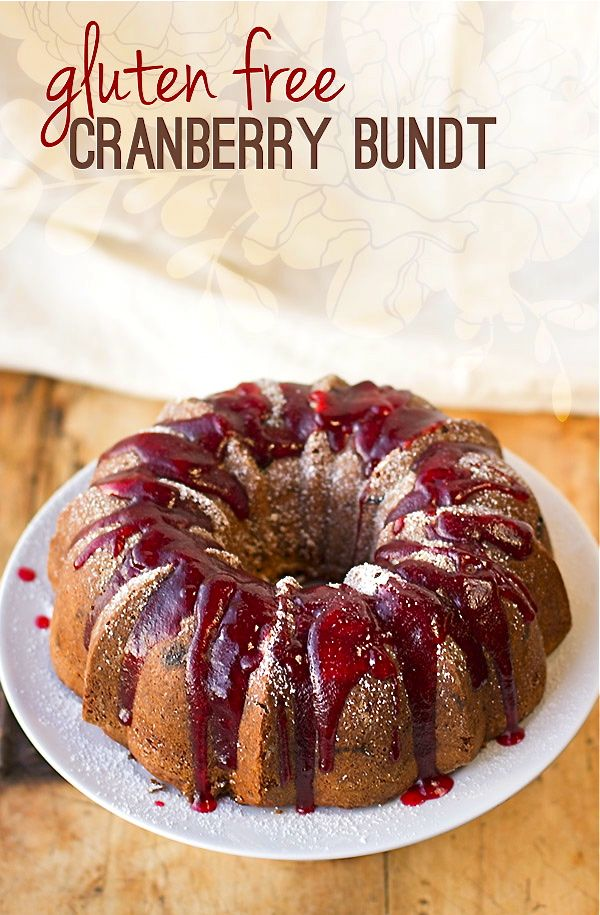 Vintage Cranberry Bundt Cake | #glutenfree | Gluten-Free Fall Flavors ...