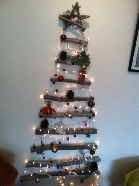 Creative Space Saving Christmas Tree The Crepery Pinterest