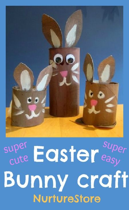 Super cute Easter bunny craft - great for filling with Easter treats or for imaginary play.