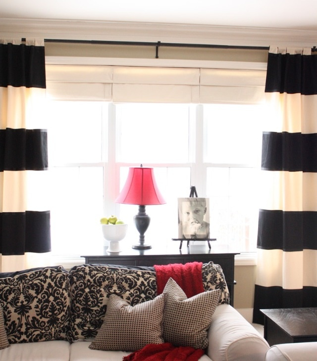 black and white stripe curtains master bedroom pinterest