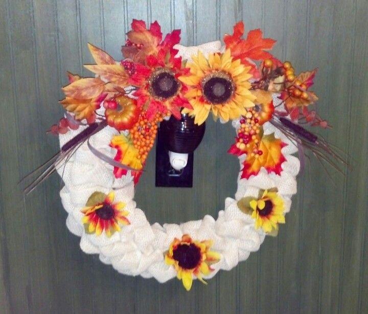 Fall burlap wreaths