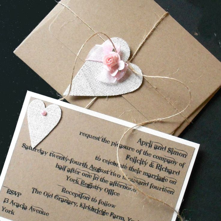 Rustic Country Chic Wedding Invitat