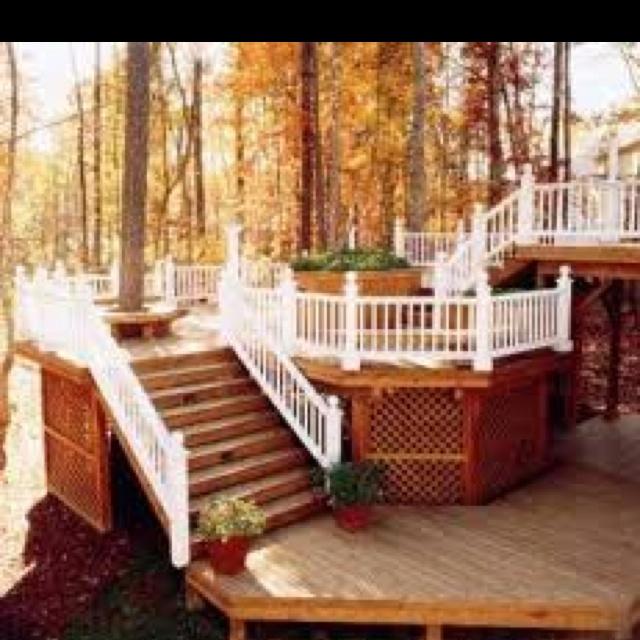Multi Level Patio Ideas : Deck ideas, multi level  My Yard Is A Canvas  Pinterest