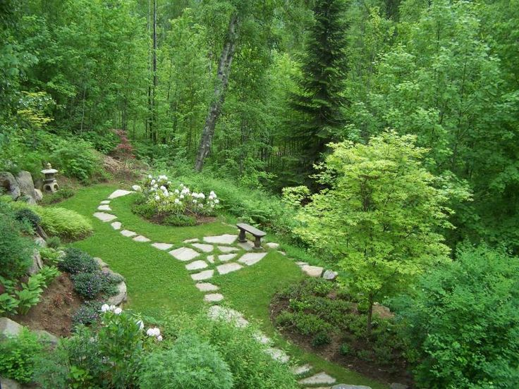 Pin by insomniac 39 s attic on storybook gardens pinterest for Woodland garden design