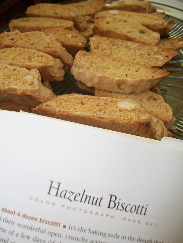 Hazelnut Biscotti. potentially almonds and amaretto instead of ...