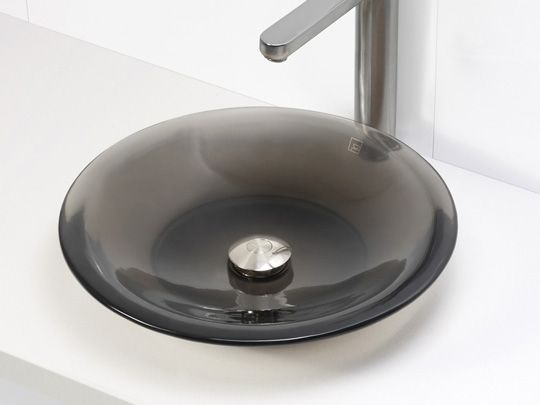 Shallow Round Resin Vessel Sink - Shadow For the Home Pinterest