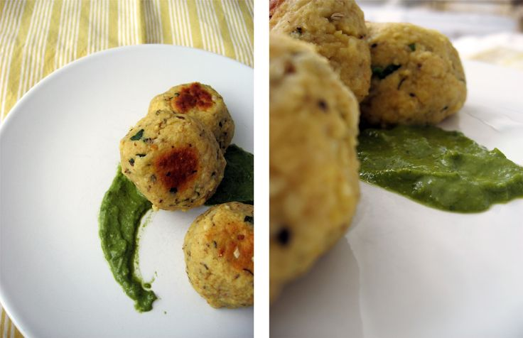 Lentil 'Meatballs' with Meyer Lemon Pesto