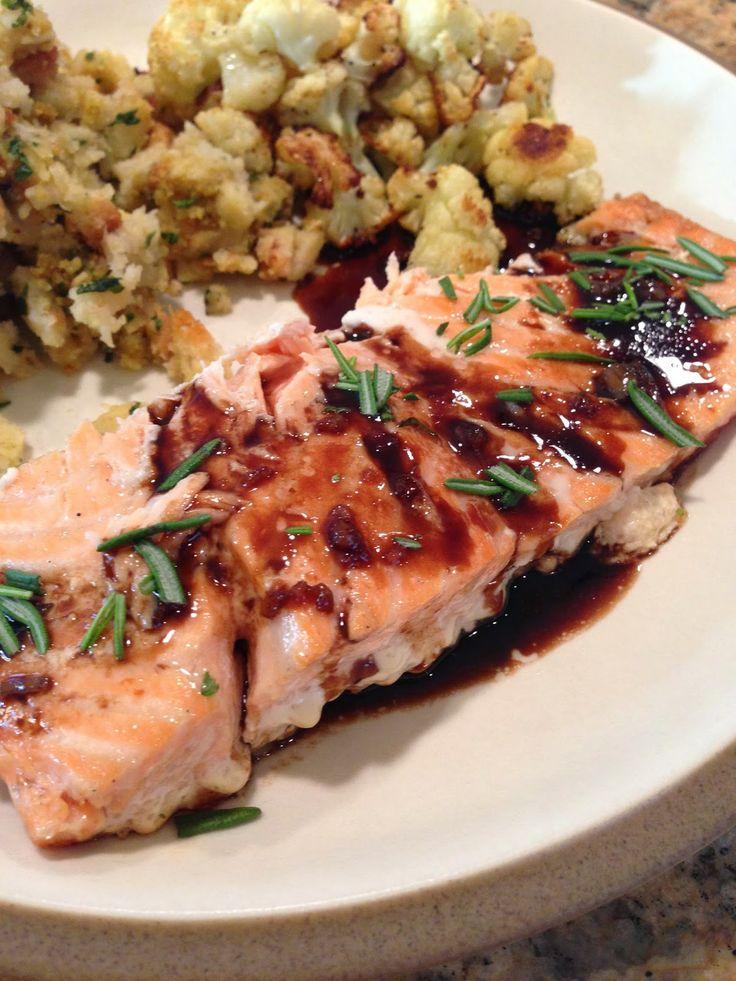 The Cookin' Chicks: Balsamic Glazed Salmon