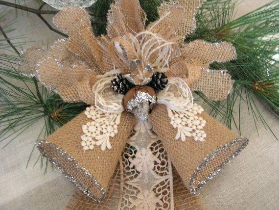 Christmas burlap decoration.