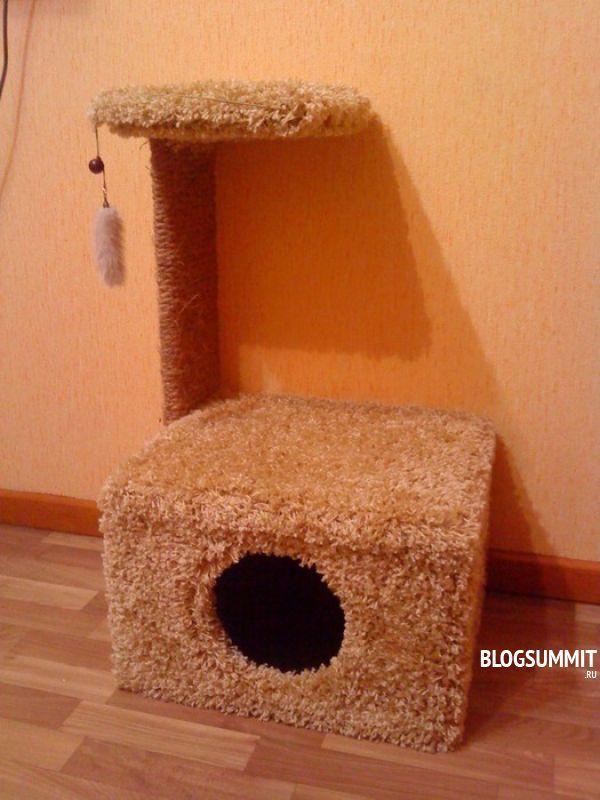 Домик для кошки как сделать самой в