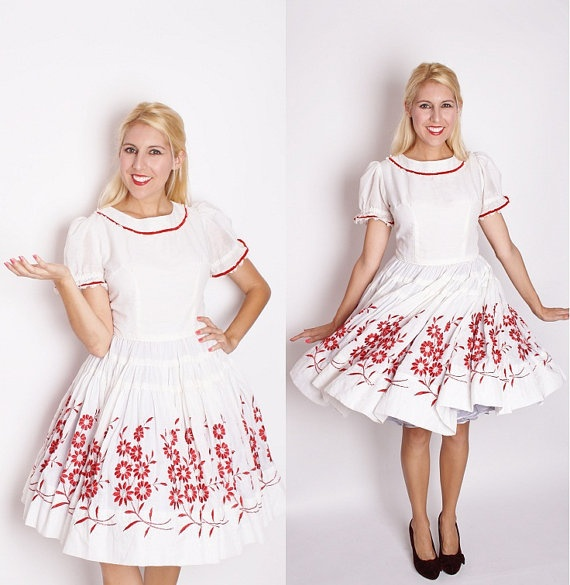 Vintage christmas wedding dress white dress by aiseirigh 212 00