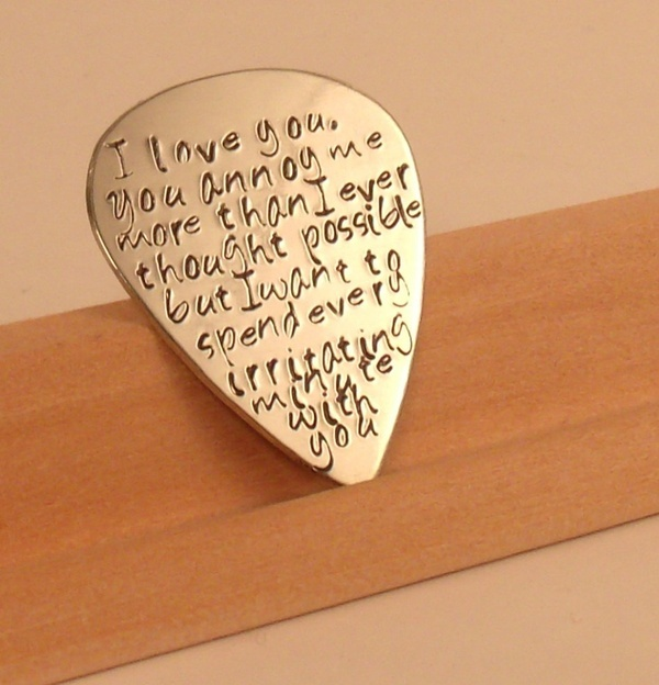 Love Quotes For A Wedding Gift : Art Love quotes Guitar Pick-Perfect Gift for a Grooms Wedding gift ...