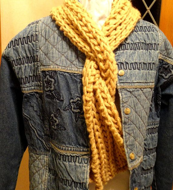 Knitting Pattern - Knit Scarf Pattern with Bulky Yarn