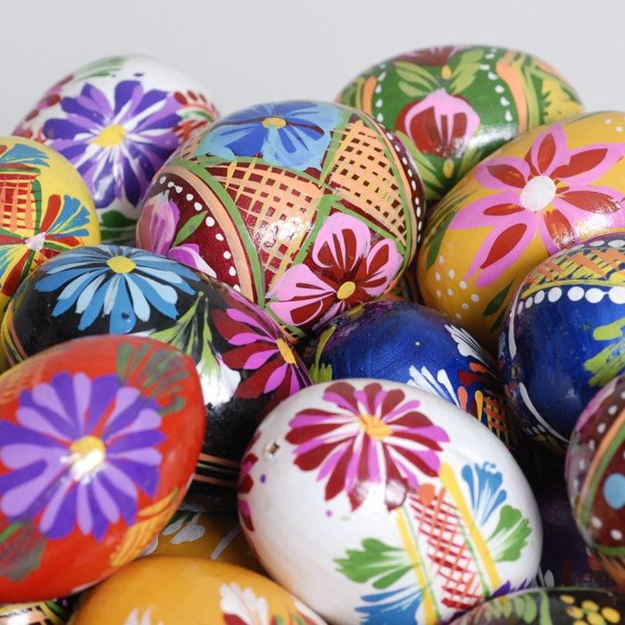 Polish easter hand painted wooden eggs crafts pinterest - Painted wooden easter eggs ...