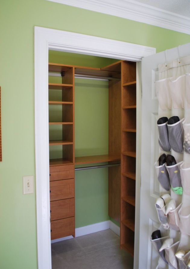 Small closet solution for apartment the house pinterest for Closet organizer small closet