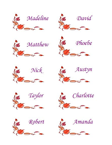 ... place cards with leaves (10 per page) - Templates - Office.com