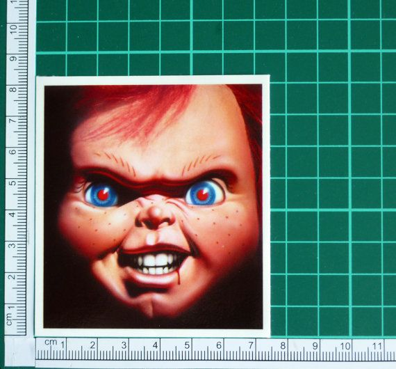 Chucky up close child s play sticker decal horror by thestickergal 3
