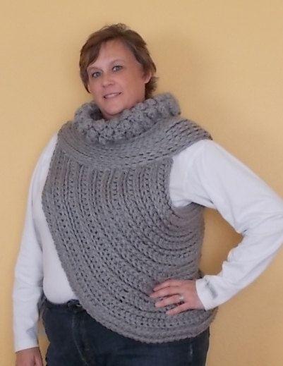 Katniss Inspired Cowl Knitting Pattern : PATTERN Katniss inspired Cross Body Cowl Asymmetrical Wrap Sweater Sh?