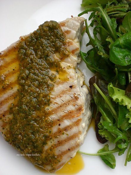 Grilled Tuna Steaks with Chimichurri Sauce