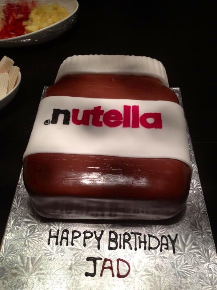 S Shaped Cake Images : Triple chocolate Nutella shaped cake. Cakes Pinterest