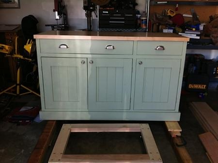 build kitchen island only 2 cabinets diy furniture