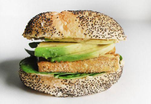 Tofu, Hummus, Spinach & Avocado Sandwich
