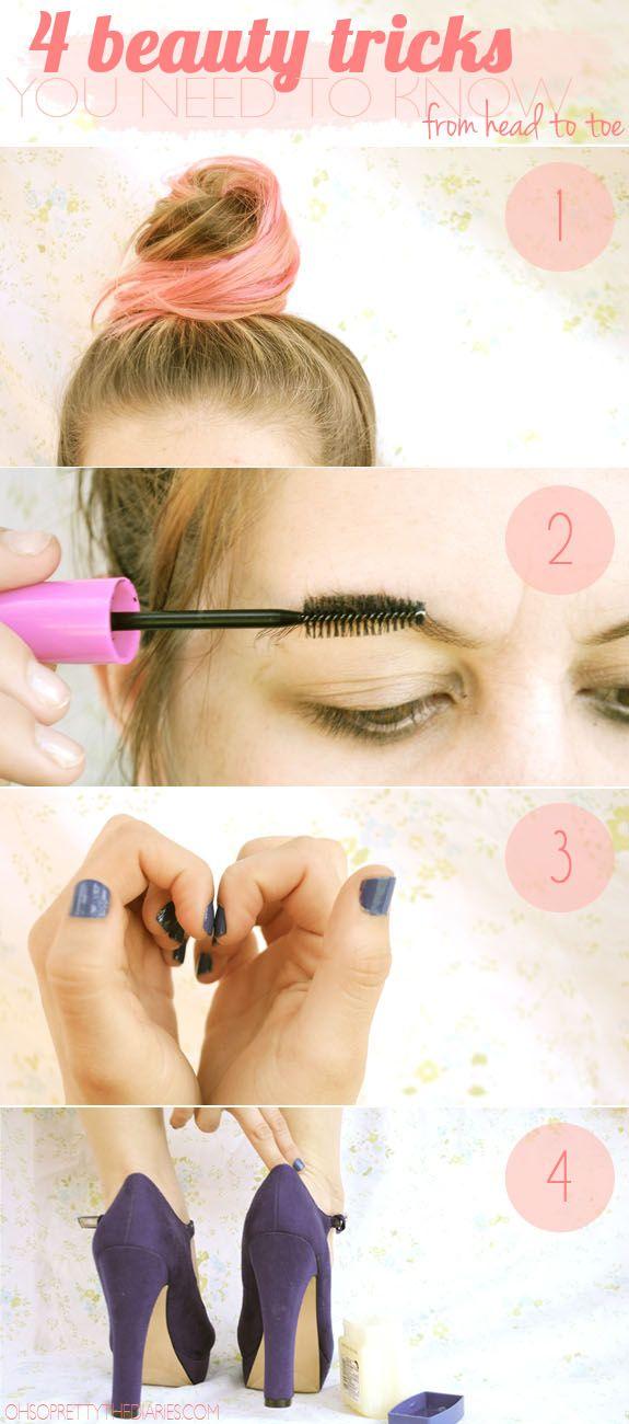 4 beauty tricks from head to toe