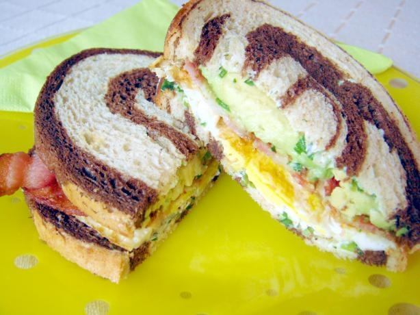 Bacon, Egg & Avocado Sandwich (Paula Deen). Photo by Lori Mama