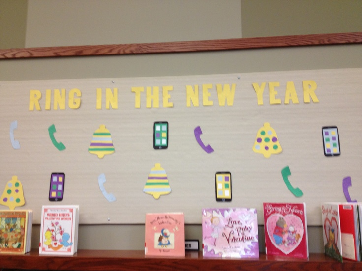 New Years bulletin board :) | Library Display Ideas | Pinterest