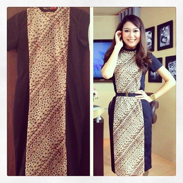 Dress batik kombinasi tikshirt batik indonesia pinterest