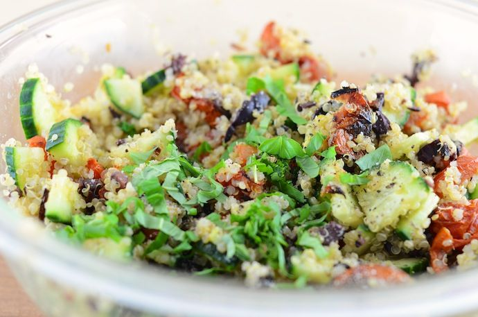 Vegan Greek Quinoa Salad | Dancing in the Kitchen | Pinterest