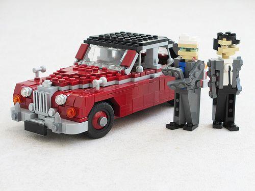 Lego inspector morse jaguar mk ii geek pinterest